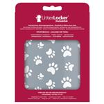 LitterLocker Fashion Stoff-Bezug Cat paws grey