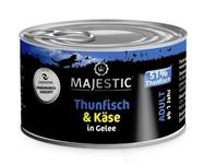 Thunfisch & Käse in Gelee - Adult - 100g - Majestic - Dose