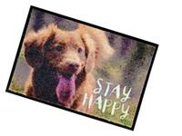 Bodenmatte Indoor - Stay Happy - 60x40x0,6cm