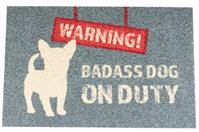 Bodenmatte Outdoor - WARNING - 60x40cm