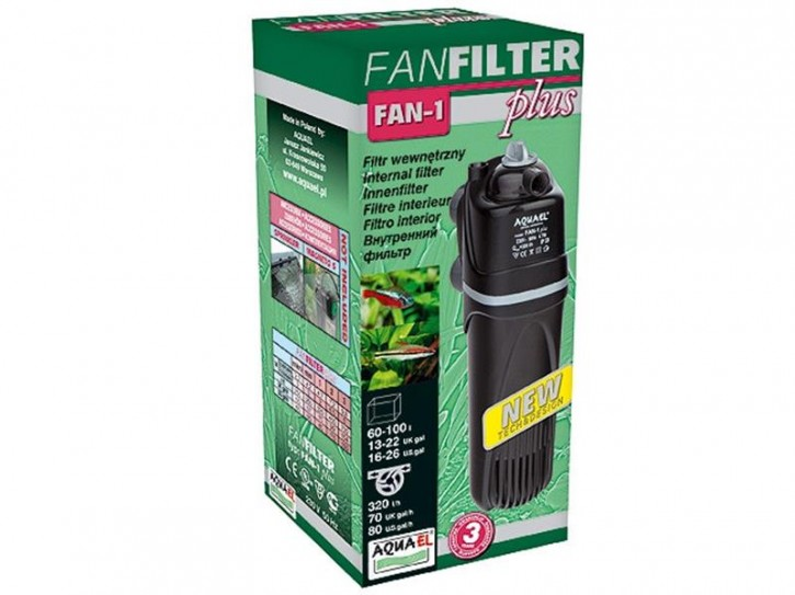 Innenfilter Fan Mini Plus 50-260l/h Aquael